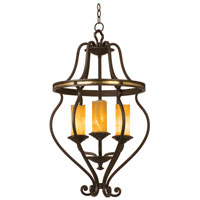 Kalco Lighting Durango 3 Light Chandelier in Tawny Port with Natural Calcite Shade 6108TP-2/CALC photo thumbnail