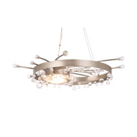Galaxy LED 37 inch Tawny Port Semi Flush Ceiling Light in Without Glass, 13