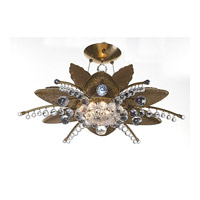 Stargazer 12 Light 30 inch Brushed Stainless Steel Semi Flush Mount Ceiling Light FALL CLEARANCE
