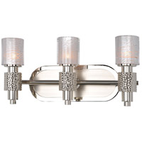 Ashington 3 Light 18 inch Polished Satin Nickel Vanity Light Wall Light