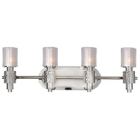 Ashington 4 Light 28 inch Polished Satin Nickel Vanity Light Wall Light