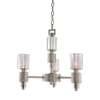 Ashington 3 Light 18 inch Polished Satin Nickel Mini Chandelier Ceiling Light