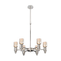 Kalco 6276PSN Ashington 6 Light 26 inch Polished Satin Nickel Chandelier Ceiling Light