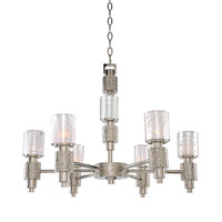 Kalco 6277PSN Ashington 6 Light 26 inch Polished Satin Nickel Chandelier Ceiling Light