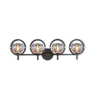 Lunaire 4 Light 31 inch Old Bronze Wall Bracket Wall Light