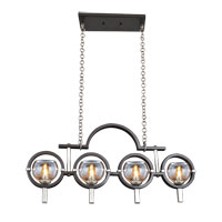 Lunaire 4 Light 31 inch Old Bronze Island Light Ceiling Light FALL CLEARANCE