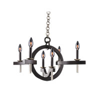 Kalco Lighting Lunaire 6 Light Chandelier in Old Bronze 6307OB-1