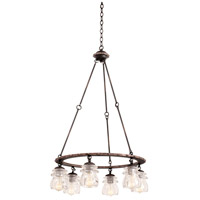 Kalco 6310AC Brierfield 6 Light 26 inch Antique Copper Chandelier Ceiling Light