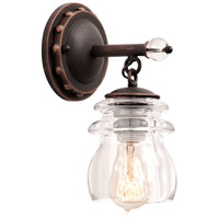 Kalco 6311AC Brierfield 1 Light 5 inch Antique Copper Vanity Light Wall Light