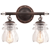 Brierfield 2 Light 13 inch Antique Copper Bath Light Wall Light