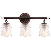 Kalco Brierfield 3 Light Bath Light in Antique Copper 6313AC