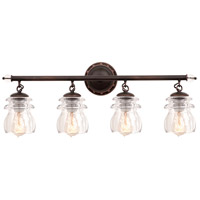 Kalco Brierfield 4 Light Bath Light in Antique Copper 6314AC