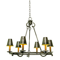 Kalco Lighting Fairford 6 Light Chandelier in Vintage Iron 6330VI