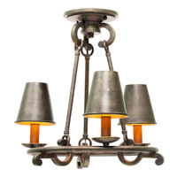 Kalco Fairford 3 Light Semi Flush Mount in Sienna Bronze 6337SB