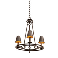 Fairford 3 Light 20 inch Vintage Iron Chandelier Ceiling Light