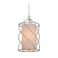 Kalco Lighting Helix 3 Light Foyer Pendant in Aged Silver 6419SV