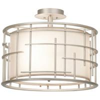 Kalco 6482TS Atelier 3 Light 18 inch Tarnished Silver Semi Flush Mount Ceiling Light