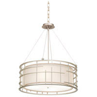 Kalco 6483TS Atelier 4 Light 23 inch Tarnished Silver Pendant Ceiling Light