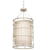 Kalco 6484TS Atelier 8 Light 18 inch Tarnished Silver Chandelier Ceiling Light