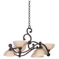 Arroyo 6 Light 28 inch Antique Copper Chandelier Ceiling Light