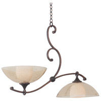 Kalco Lighting Arroyo 2 Light Island Light in Antique Copper 6497AC
