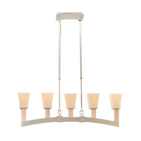 Kalco Lighting Boston 5 Light Island Light in Tarnished Silver 6515TS