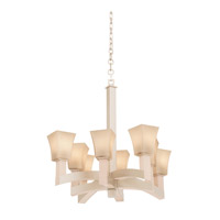 Kalco Boston 8 Light Chandelier in Tarnished Silver 6516TS