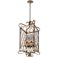 Kalco Trellis 4 Light Chandelier in Antique Silver Leaf 6530ASL