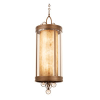 Sandhurst 6 Light 18 inch Antique Silver Leaf Pendant Ceiling Light in Antique Brass FALL CLEARANCE