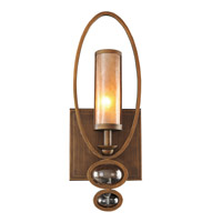 Sandhurst 1 Light 8 inch Etruscan Bronze Wall Bracket Wall Light in Antique Brass
