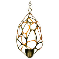 Kalco Fossil 1 Light Pendant in Bronze 6560BZ