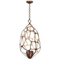 Fossil 1 Light 20 inch Etruscan Bronze Pendant Ceiling Light