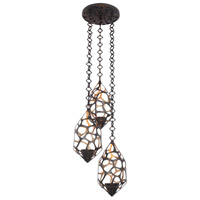 Kalco 6562BZG Fossil 3 Light 19 inch Bronze Gold Pendant Ceiling Light
