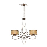 Kalco Lighting Whitfield 10 Light Island Light in Aged Silver 6577SV