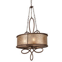Kalco 6579AC Whitfield 4 Light 27 inch Aged Silver Oval Pendant Ceiling Light in Antique Copper, Without Shade