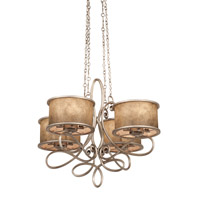Whitfield 20 Light 47 inch Antique Copper Chandelier Ceiling Light in Without Shade, Aged Silver