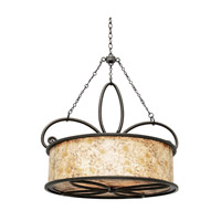 Kalco 6585AC Whitfield 4 Light 28 inch Aged Silver Pendant Ceiling Light in Antique Copper, Without Shade