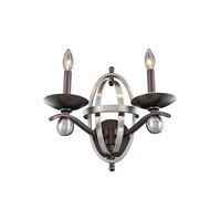 Kalco Rothwell 2 Light Wall Sconce in Polished Satin Nickel 6591PSN