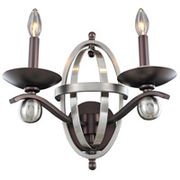 Kalco Lighting Rothwell 2 Light Wall Sconce in Polished Satin Nickel 6591PSN