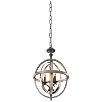 Kalco Rothwell 3 Light Pendant in Polished Satin Nickel 6593PSN