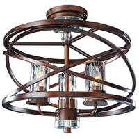 Eternity 3 Light 17 inch Etruscan Bronze Semi Flush Mount Ceiling Light