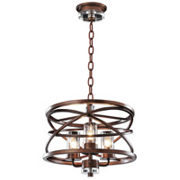 Eternity 3 Light 17 inch Etruscan Bronze Pendant Ceiling Light