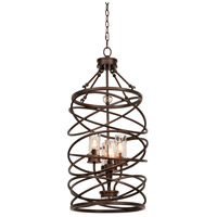 Kalco 6607EZ Eternity 4 Light 17 inch Etruscan Bronze Foyer Light Ceiling Light photo thumbnail