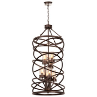 Kalco Eternity 8 Light Foyer Light in Etruscan Bronze 6608EZ