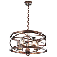 Kalco Eternity 5 Light Pendant in Etruscan Bronze 6609EZ