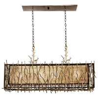 Oakham 4 Light 36 inch Bronze Island Light Ceiling Light in Bronze Gold