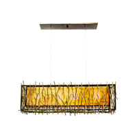 Kalco Oakham 4 Light Pendant in Bronze 6611BZ