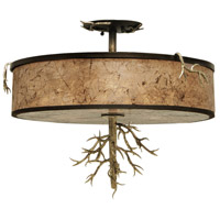 Oakham 3 Light 20 inch Bronze Gold Semi Flush Ceiling Light