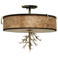 Kalco 6613BZG Oakham 3 Light 20 inch Bronze Gold Semi Flush Mount Ceiling Light