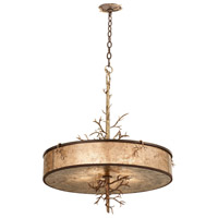 Kalco Oakham 5 Light Pendant in Bronze Gold 6615BZG